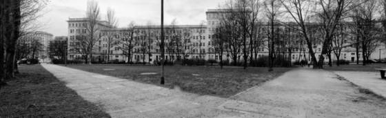 Behind the karl marx allee