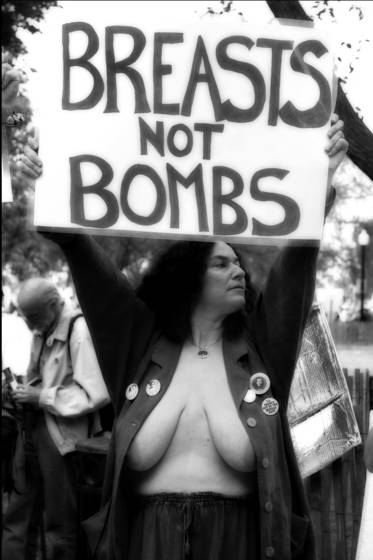 Breasts not bombs