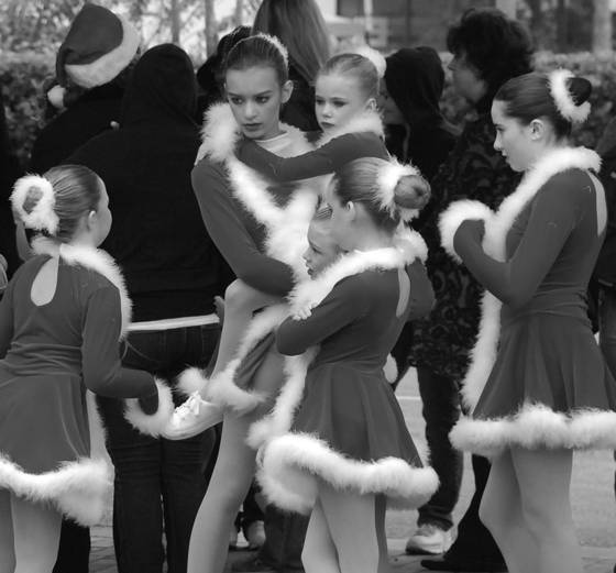 Ballet dancers christmas parade