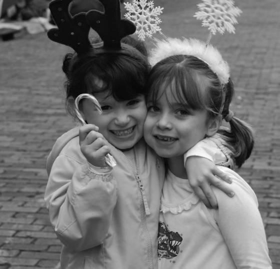 Candy cane girls at christmas  parade
