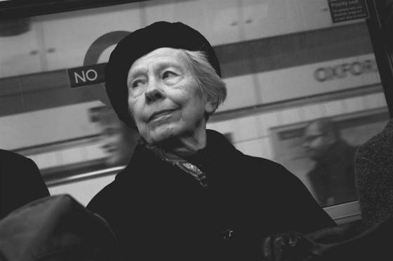 Woman on the underground