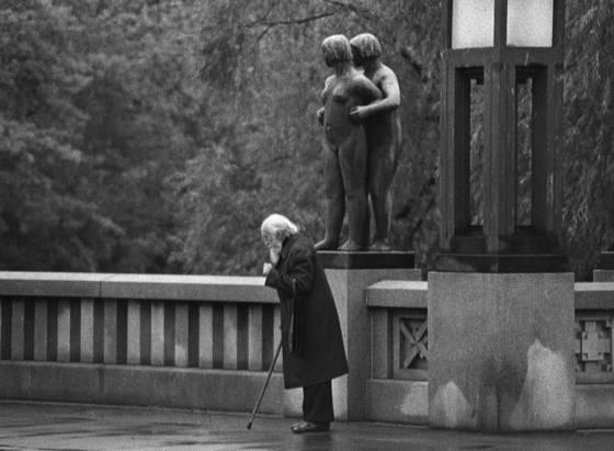 Man in rain