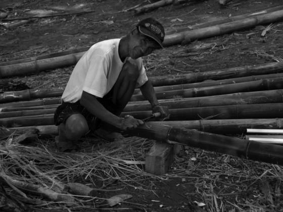 Bamboo worker