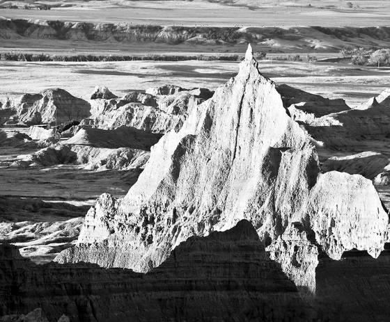 Pinnacle in the badlands