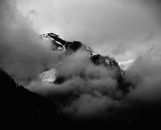Veiled mountains of lauterbrunen