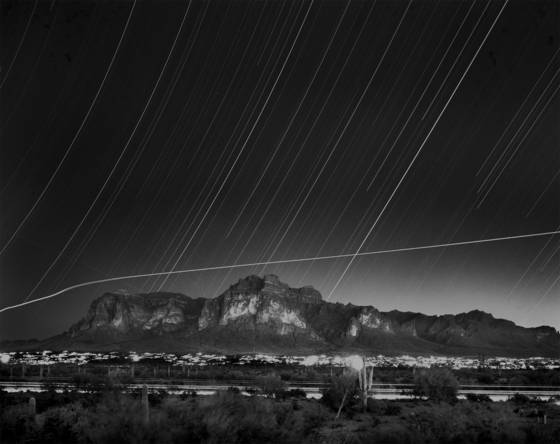 Quadrantids meteor showers over the superstition mountains