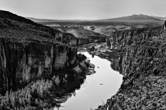 Boquillas canyon on the rio bravo