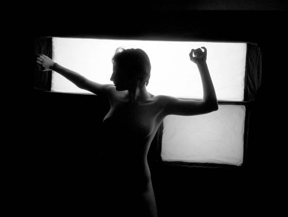 Backlit nude