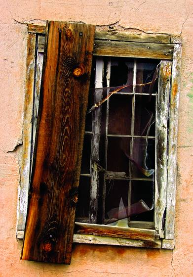 Ghost town window