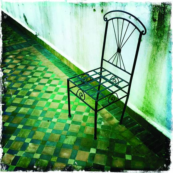 Chair and tile