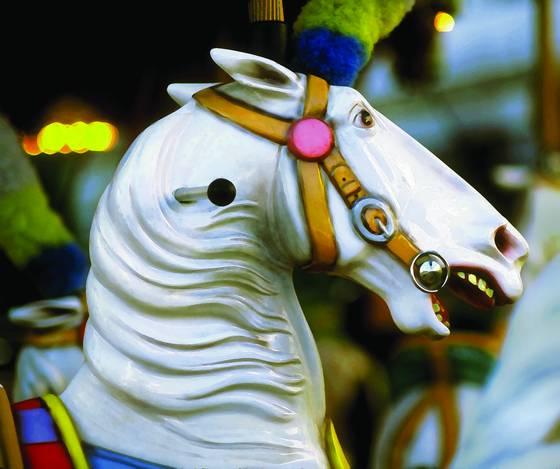 1 carousel horse