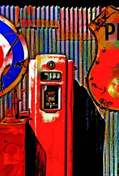 At the pumps