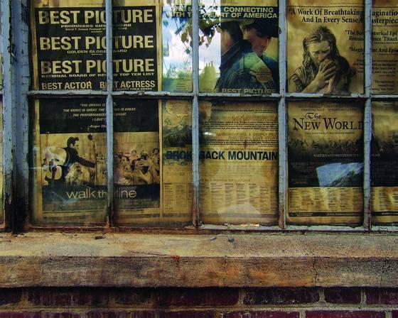 Newspaper in window boston