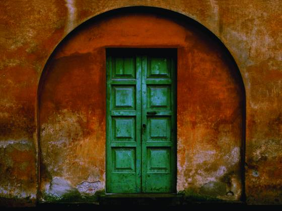 Italian arched door