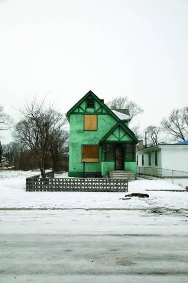 Teal house
