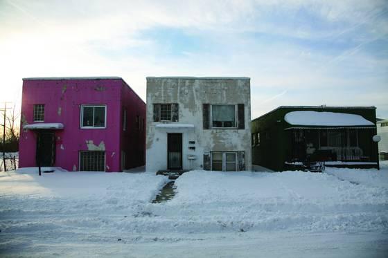 Three desolate homes