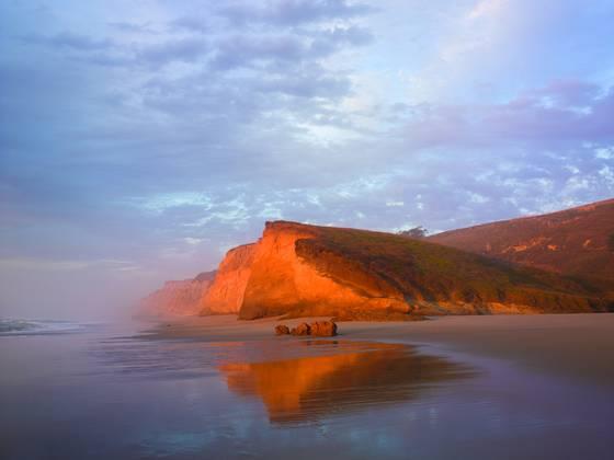 Glowing cliffs