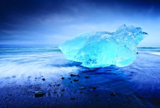 Abandoned blue berg