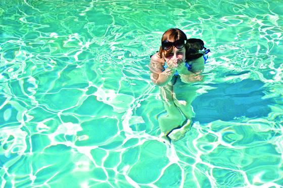 Ayla in the pool
