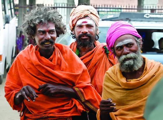 Three sadhus