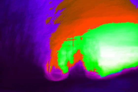 C nebula emerging