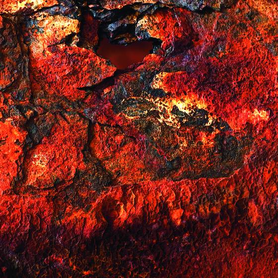 Red rust pipe