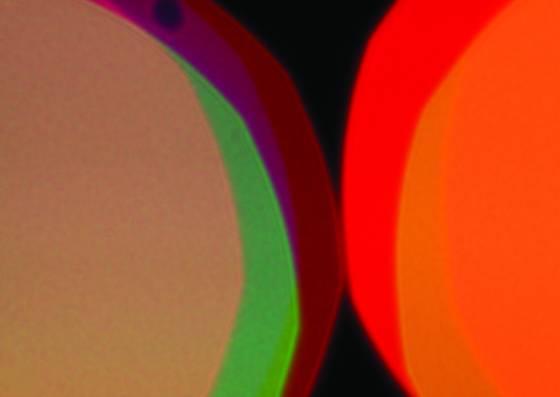 Beige orange with dot