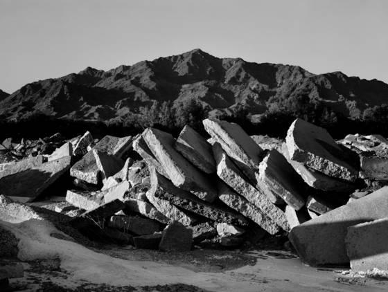 Concrete piles   mountain