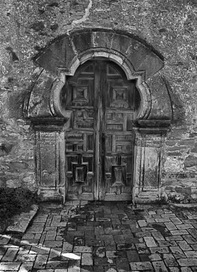 San juan mission doorway