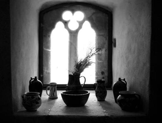 Calnic castle s window
