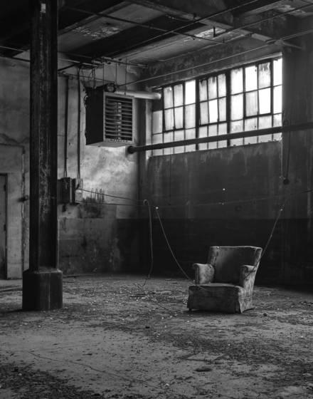 Derelict armchair