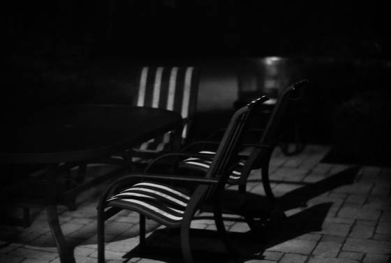 Chairs in moonlight