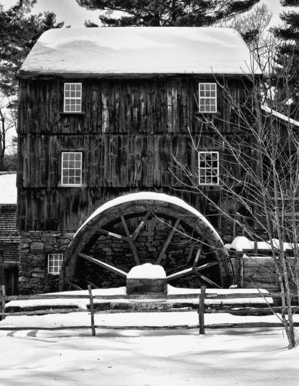 Grist mill winter