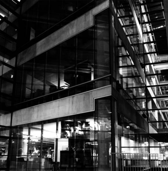 Salt lake city library at midnight 1