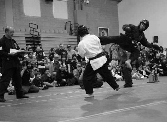 Instructor sparring
