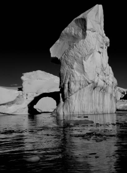 Overturned iceberg