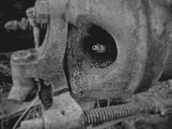 Old pump spark plug