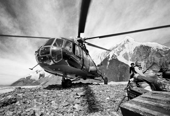 Helicopter in tien shan