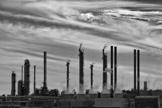 Refinery stacks