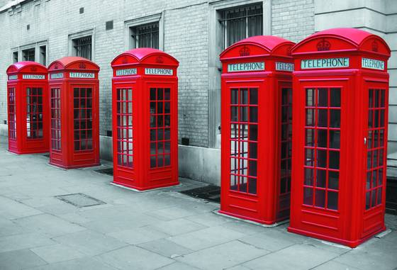 Bow street phone boxes