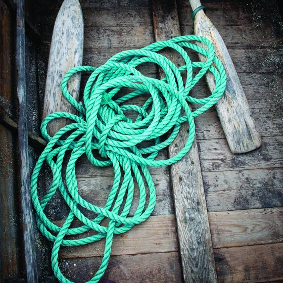 Rope in a boat