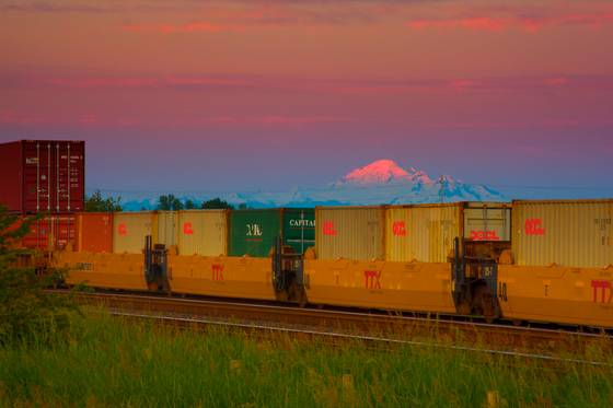 Train and mt  baker