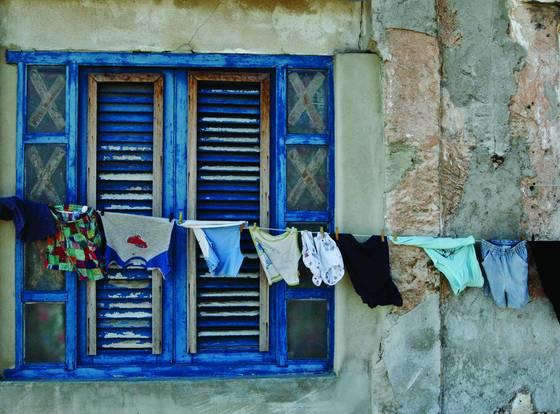 Blue laundry