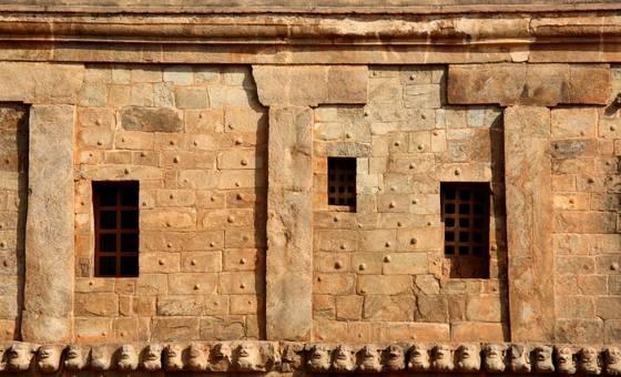 Tanjore temple complex in tajore tamil nadu