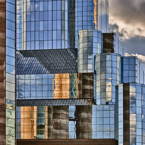 Dallas skyline reflection xviii