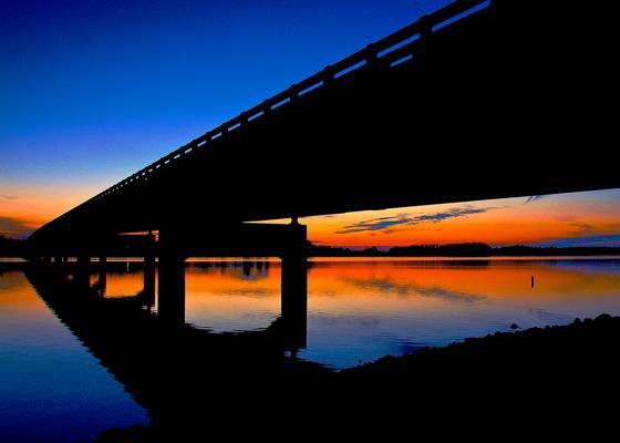 Kowaliga bridge sunset