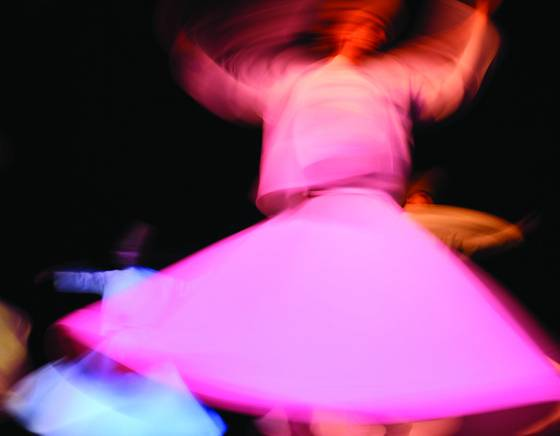 Whirling dervishes at the rose theater