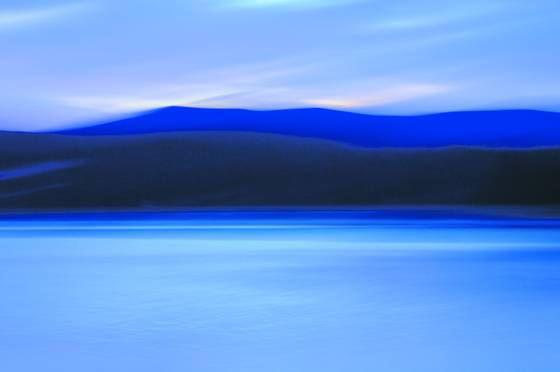 Blue morning at caspian lake