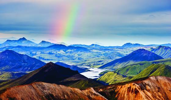 Rainbow at landmannalaugar