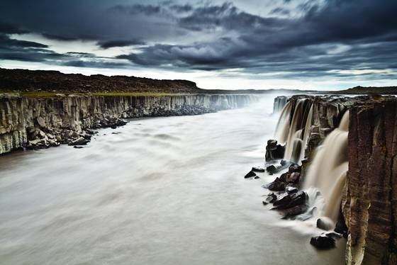 Selfoss before storm